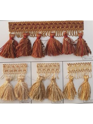 FRINGE BY THE METER - ART TFBE51B (8,00CM TALL) - SELECT COLOR