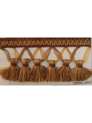 FRINGE BY THE METER - ART TFOR905 (9,50CM TALL) - SELECT COLOR