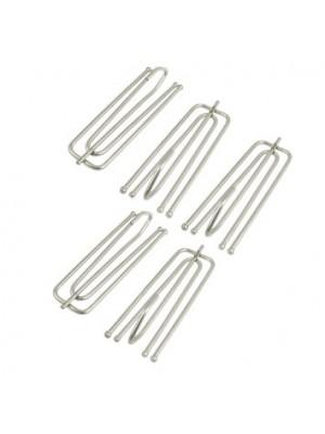 Three Pleat Curtain Hooks - Pack of 100pcs