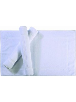 White Bath Mat - Suitable for Hotels