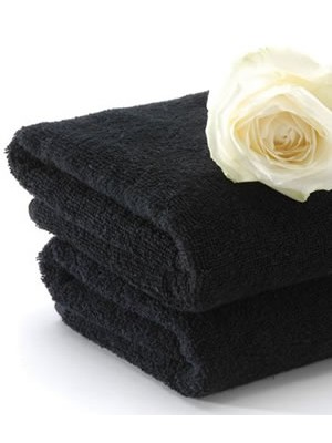 Black Towels 100% cotton  Size:50X90cm