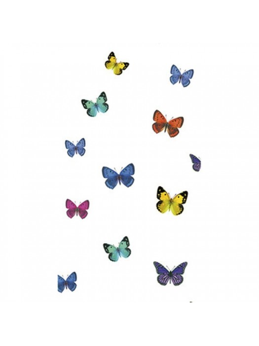 Shower Curtain Size: 180 X 200cm - Art: PAPILLON MULTICOLOR