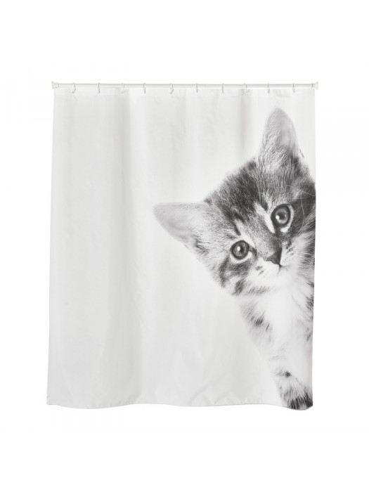 Shower Curtain Size: 180 X 200cm - Art: KITTY