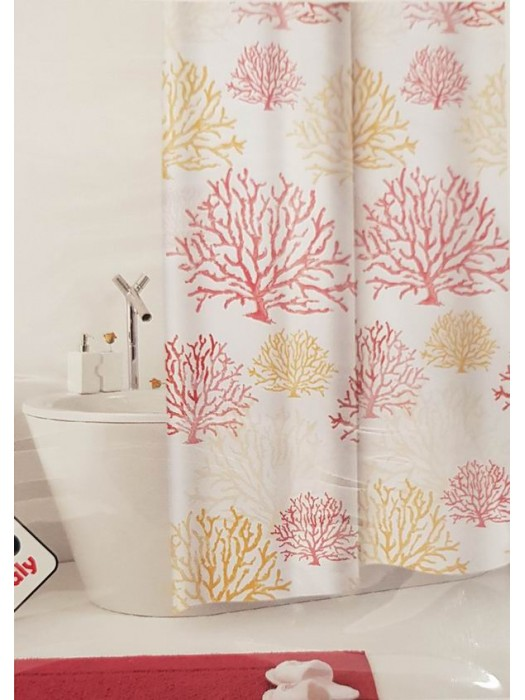 Shower Curtain Size: 180 X 200cm - Art: Coral
