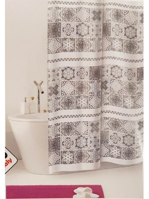 Shower Curtain Size: 180 X 200cm - Art: Cementine