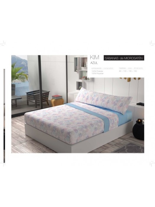 Summer Bed Sheet Set - art: KIM - Select Size and Color