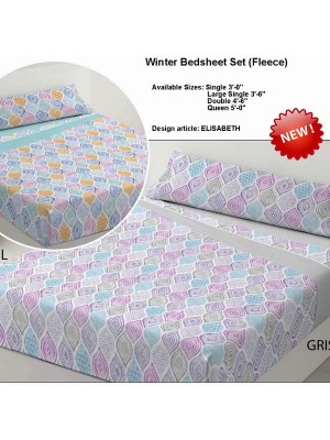 Winter Bedsheet Set Fleece - art: ELISABETH - Select Size and Color