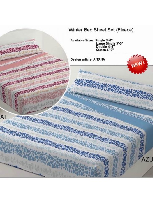 Winter Bedsheet Set Fleece - art: AITANA - Select Size and Color