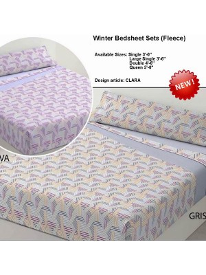 Winter Bedsheet Set Fleece - art: CARLA - Select Size and Color