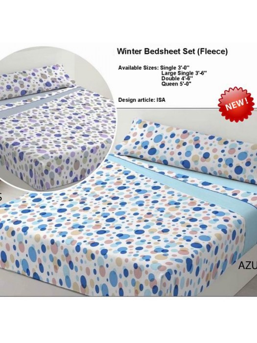 Winter Bedsheet Set Fleece - art: ISA - Select Size and Color