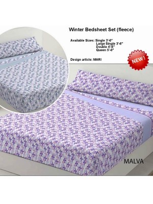 Winter Bedsheet Set Fleece - art: MARI - Select Size and Color