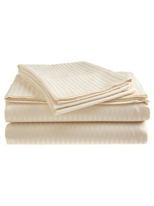 Quilt Covers 100% Egyptian Cotton Stripe Satin 230X240 + 2 pillowcases