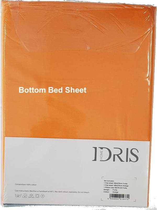 Bed Sheet Sets 100% Cotton 160TC - Printed/Plain - FRUITY - Select Size