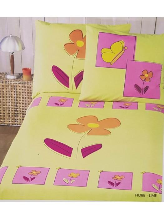 Flannel Bed Sheet Set - Winter Bed Set - Flower - Size Large Single