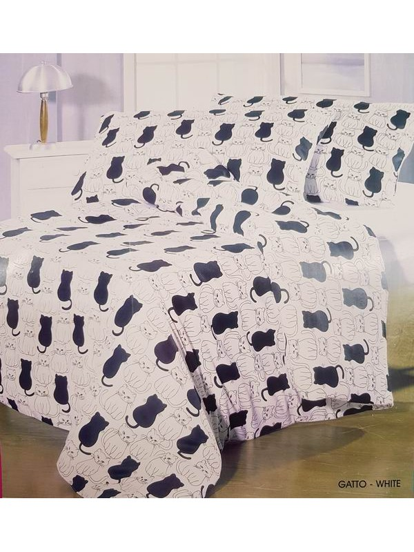Flannel Bed Sheet Set - Winter Bed Set - Flower - Size Large Single