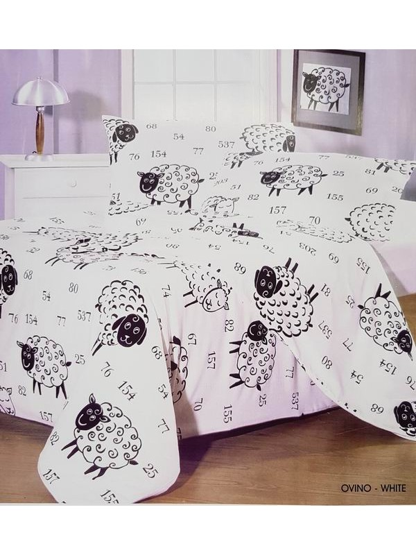Flannel Bed Sheet Set - Winter Bed Set - Ship Count - Size Large Single