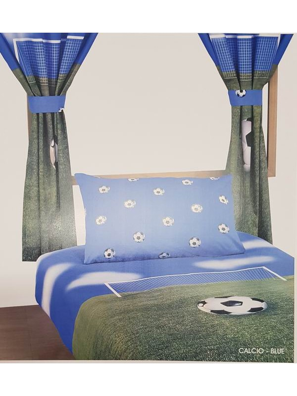 Flannel Bedsheet Set - Football Feild - Large Single bed 3'-6''