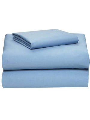 Flat Plain Color Summer Bed Sheet Set - Size: Single Bed - 160Χ270cm + 1 pillowcase 50X70cm