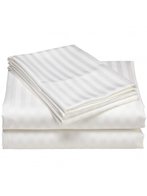 Bed Sheets Set 100 Egyptian Cotton Satin Dobby King Size