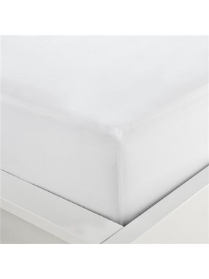Single White Fitted Bed Sheet