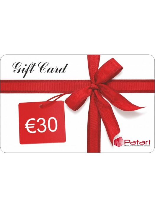 Gift Card - 30 euros - Can be used in any of our stores - no expiration
