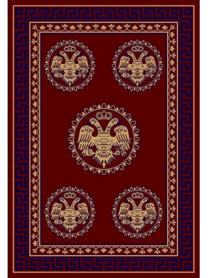 2128 B RED VERTICAL SIZE: 200cm X 300cm