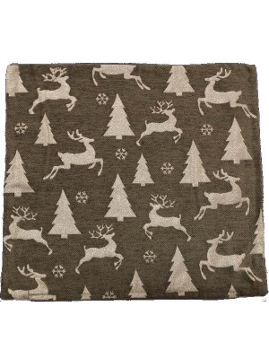 Christmas Cushion Cover 45X45 - Trees and Reindeers