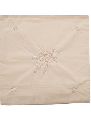Cushion Cover Cotton Linen Embroidered - 40cm X 40cm