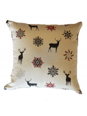 Christmas Cushion Cover Renne Gray - select size