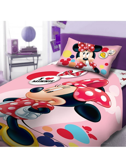 Quilt Cover Minnie Mouse- 160X260 + pillowcase