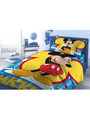 Bedsheets Set Mickey Mouse- 2 flat sheets 160X260 + pillowcase