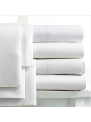White Bedsheets Sets Polycotton - 50% Cotton - 50% Polyester