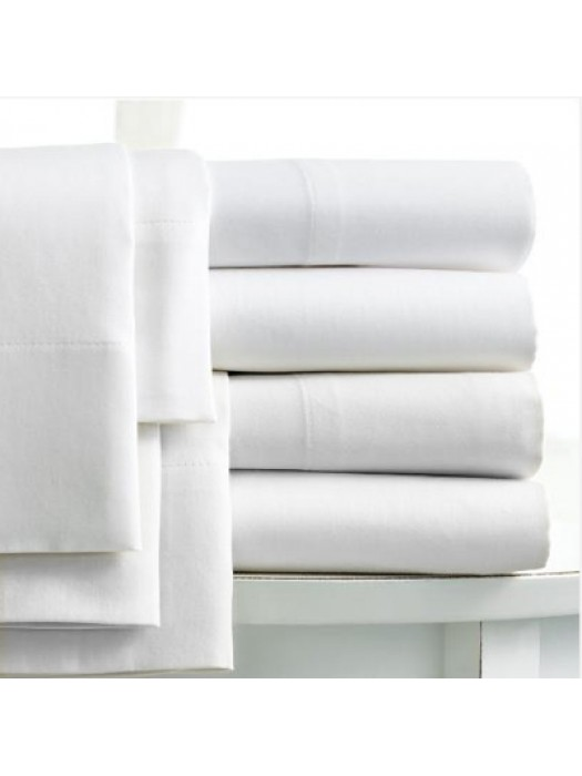 White Bedsheets Sets 100% cotton percale