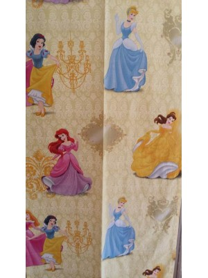 Princess Disney Yellow- Fabric by the meter - 140cm width cotton