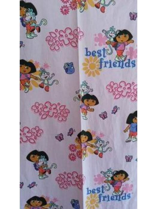 Dora explorer - Fabric by the meter - 140cm width cotton