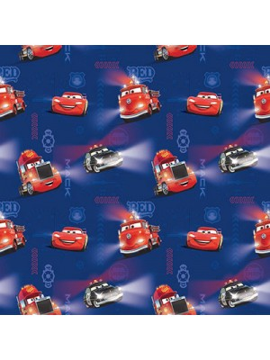 Cars Blue - Fabric by the meter - 140cm width cotton