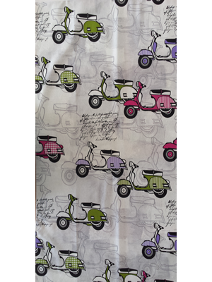 Fabric by the meter - SCOOTERS - 280cm width