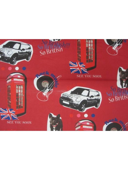 Fabric by the meter - British Red - 280cm width