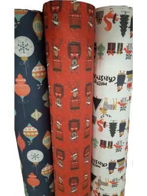 Christmas Fabric by the meter 280cm width - NOEL
