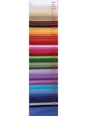 BEGONIA - Cotton - Polyester Fabric 280cm width - Weight 220gr/m2 - Full Range of Colors