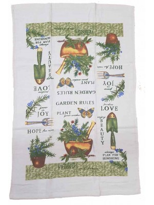 Terry Kitchen Towels 90gsm Size:45X70cm Pack of 12pcs art: plants