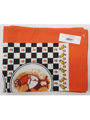 Kitchen Napkins 100% Cotton size 60X40cm - Pack of 12 pcs - art: Farm