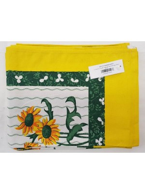 Kitchen Napkins 100% Cotton size 60X40cm - Pack of 12 pcs - art: Sunflower