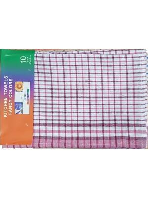Kitchen Towel Set of 10 (4 colors in a set) - 100% cotton
