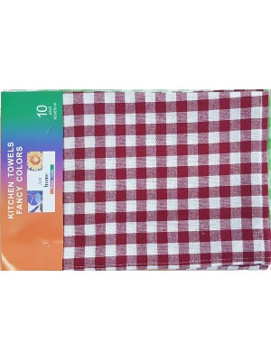 Kitchen Towel Set of 10 (4 colors in a set) - 100% cotton