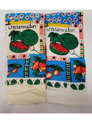 Kitchen Terry Towels 60gsm - size: 63X38cm Pack of 6pcs