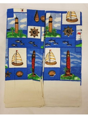 Kitchen Velour Towels 60gsm - size: 63X38cm Pack of 6pcs