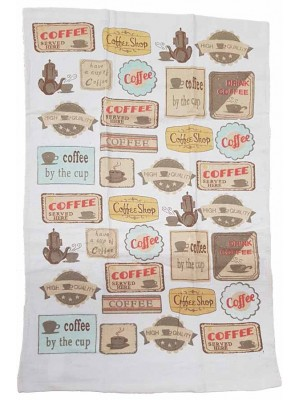 Terry Kitchen Towels 90gsm Size:45X70cm Pack of 12pcs art: Coffee