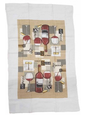 Terry Kitchen Towels 90gsm Size:45X70cm Pack of 12pcs art: Wine