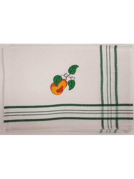 Waffle Kitchen Towels With Embroidery - Pack of 4 pcs